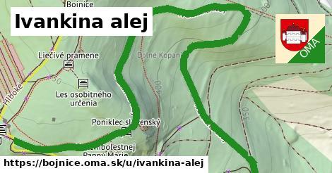 ilustrácia k Ivankina alej, Bojnice - 1,38km