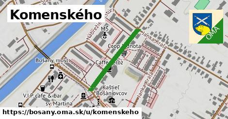 ilustračný obrázok k Komenského, Bošany