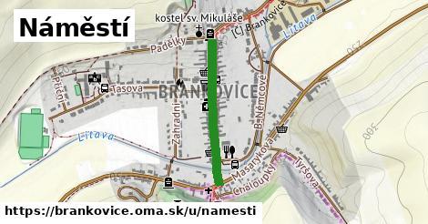 ilustrácia k Náměstí, Brankovice - 500m