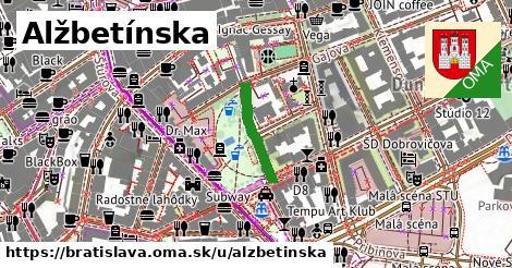 ilustrácia k Alžbetínska, Bratislava - 152m