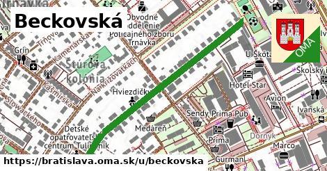 ilustrácia k Beckovská, Bratislava - 475m