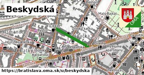 ilustrácia k Beskydská, Bratislava - 194m