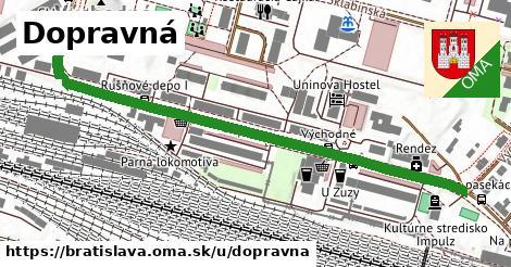 ilustrácia k Dopravná, Bratislava - 655m