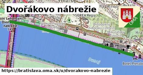 ilustrácia k Dvořákovo nábrežie, Bratislava - 2,2km