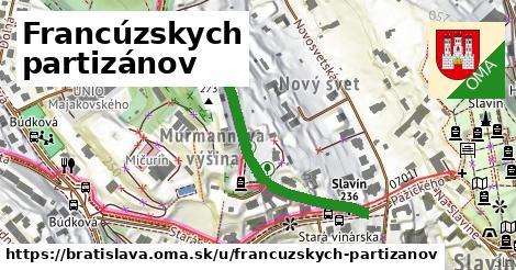 ilustrácia k Francúzskych partizánov, Bratislava - 447m