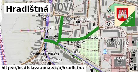 ilustračný obrázok k Hradištná, Bratislava