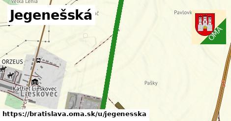 ilustračný obrázok k Jegenešská, Bratislava