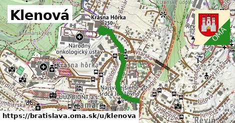 ilustrácia k Klenová, Bratislava - 687m