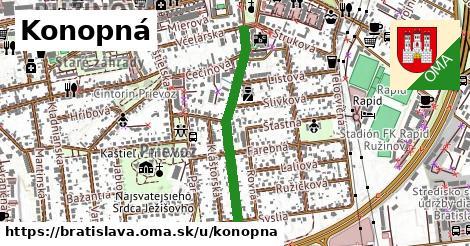 ilustrácia k Konopná, Bratislava - 633m