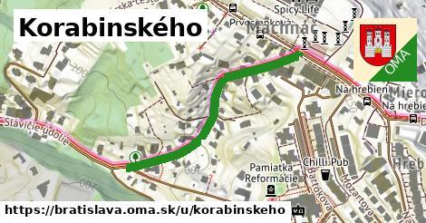 ilustrácia k Korabinského, Bratislava - 400m