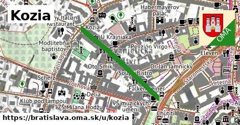 ilustrácia k Kozia, Bratislava - 326m
