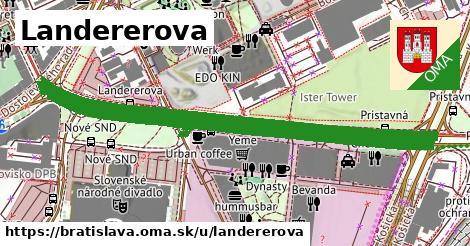 ilustračný obrázok k Landererova, Bratislava