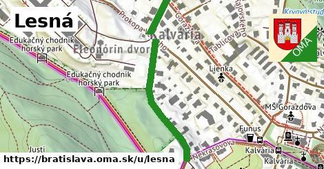 ilustrácia k Lesná, Bratislava - 392m