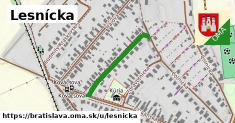 ilustrácia k Lesnícka, Bratislava - 288m