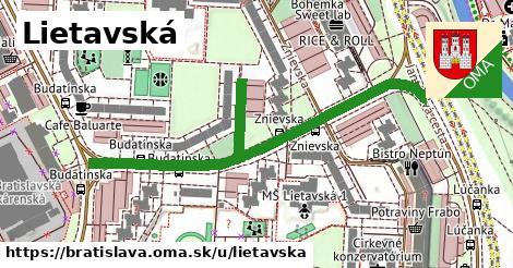 ilustračný obrázok k Lietavská, Bratislava