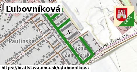 ilustračný obrázok k Ľubovníková, Bratislava