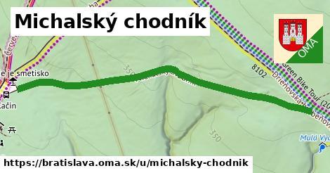 ilustračný obrázok k Michalský chodník, Bratislava