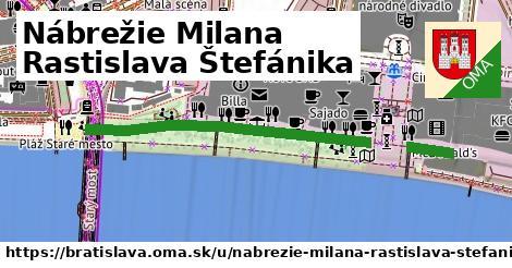 ilustračný obrázok k Nábrežie Milana Rastislava Štefánika, Bratislava
