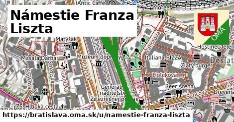 ilustrácia k Námestie Franza Liszta, Bratislava - 630m