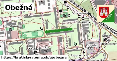 ilustračný obrázok k Obežná, Bratislava
