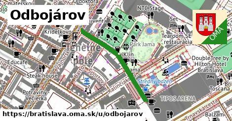 ilustrácia k Odbojárov, Bratislava - 320m