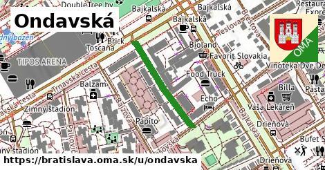 ilustrácia k Ondavská, Bratislava - 241m