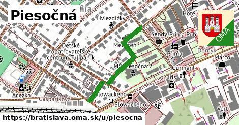 ilustrácia k Piesočná, Bratislava - 329m