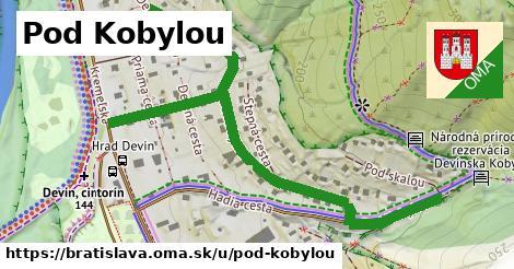 ilustračný obrázok k Pod Kobylou, Bratislava