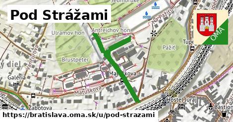 ilustračný obrázok k Pod Strážami, Bratislava