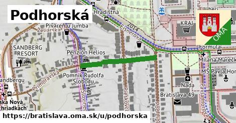 ilustračný obrázok k Podhorská, Bratislava