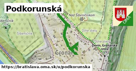 ilustračný obrázok k Podkorunská, Bratislava