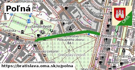 ilustrácia k Poľná, Bratislava - 355m