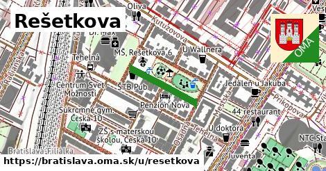 ilustračný obrázok k Rešetkova, Bratislava