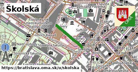 ilustrácia k Školská, Bratislava - 192m