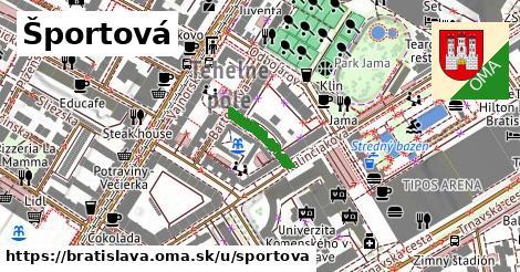 ilustračný obrázok k Športová, Bratislava