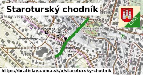 ilustrácia k Staroturský chodník, Bratislava - 265m