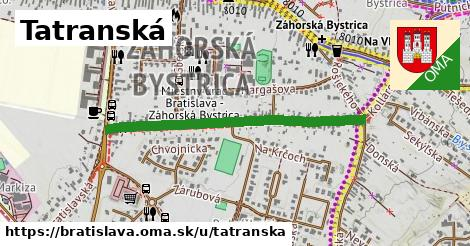 ilustračný obrázok k Tatranská, Bratislava