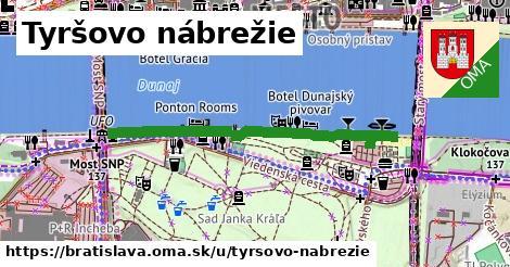 ilustračný obrázok k Tyršovo nábrežie, Bratislava