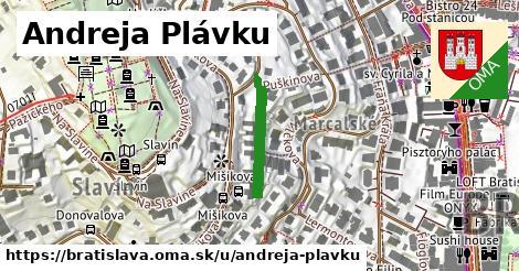 Andreja Plávku, Bratislava