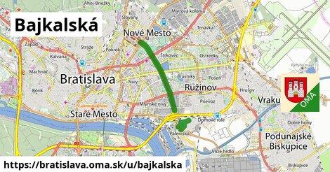 ilustrácia k Bajkalská, Bratislava - 7,4km