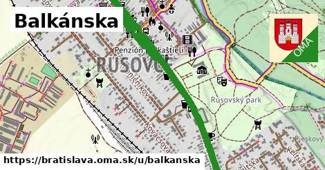 ilustrácia k Balkánska, Bratislava - 3,4km