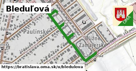 Bleduľová, Bratislava