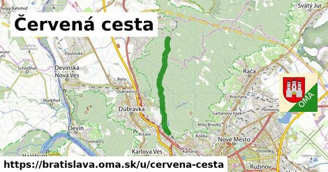 ilustrácia k Červená cesta, Bratislava - 7,3km