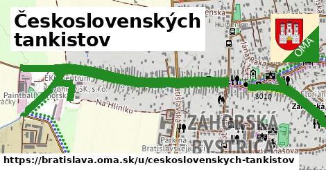 Československých tankistov, Bratislava