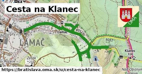 Cesta na Klanec, Bratislava