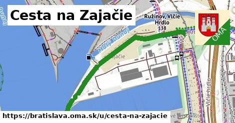 Cesta na Zajačie, Bratislava
