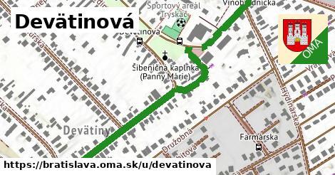 Devätinová, Bratislava