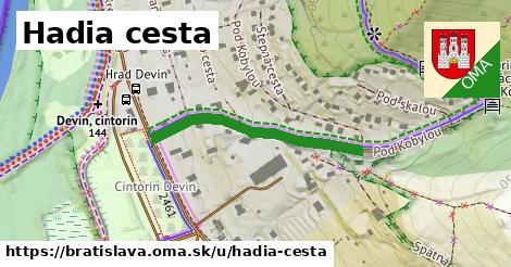 Hadia cesta, Bratislava