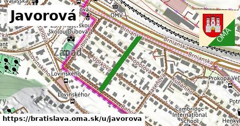 Javorová, Bratislava