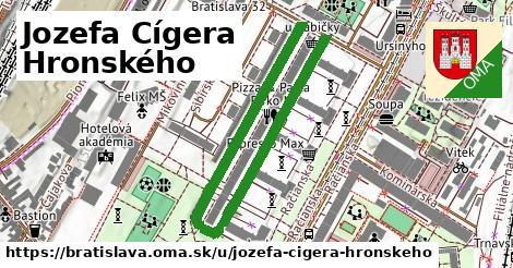 Jozefa Cígera Hronského, Bratislava